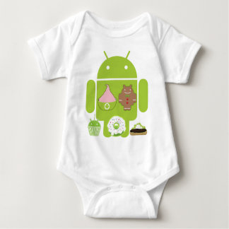 Android Versions Baby Bodysuit