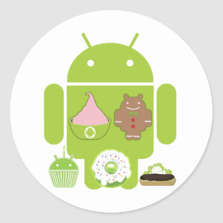 Android Versions Classic Round Sticker