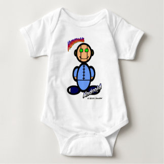 Android (with logos) baby bodysuit
