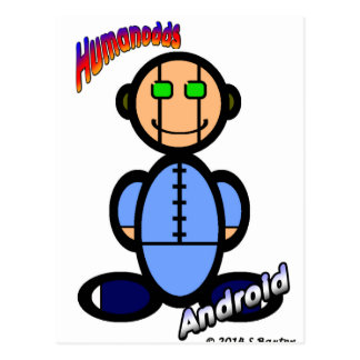 Android (with logos) postcard