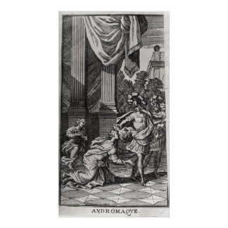 Andromache at the Feet of Pyrrhus Poster