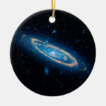Andromeda Galaxy Double-Sided Ceramic Round Christmas Ornament