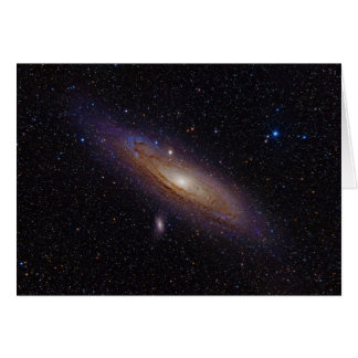 Andromeda Galaxy taken with hydrogen alpha filter Card