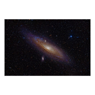 Andromeda Galaxy taken with Hydrogen Alpha Filter Poster