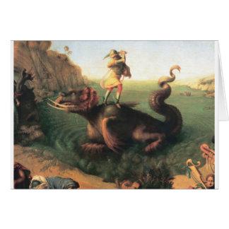 Andromeda saved by Perseus Greeting Card