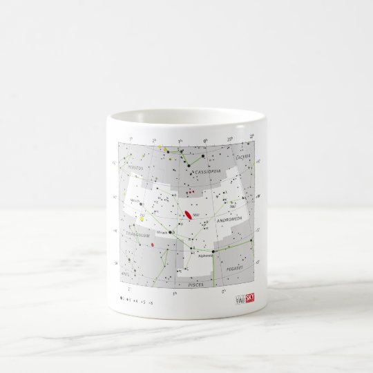 Andromeda Star System Constellation Chart Coffee Mug