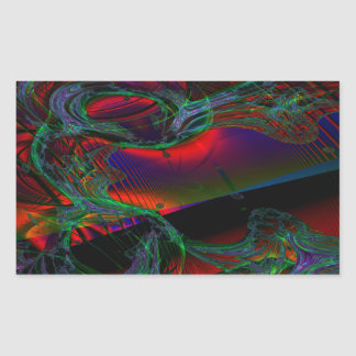 Andromeda Rectangular Stickers