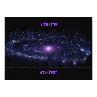 Andromeda Ultraviolet 13 Cm X 18 Cm Invitation Card