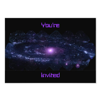 Andromeda Ultraviolet 5x7 Paper Invitation Card