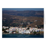 Andros town - Andros Note Card