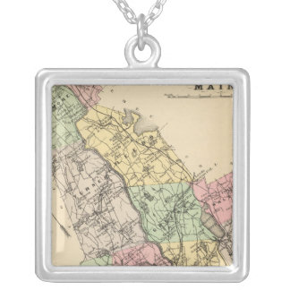 Androscoggin Co, Maine Silver Plated Necklace