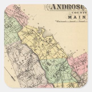 Androscoggin Co, Maine Square Sticker