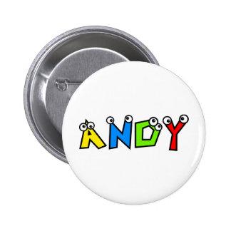 Andy 6 Cm Round Badge