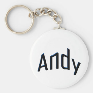 Andy Basic Round Button Key Ring