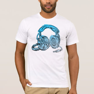 Andy Howell Headphones Sketch T-Shirt