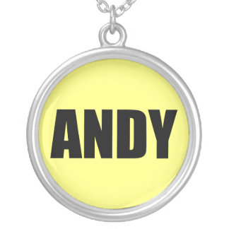 Andy Round Pendant Necklace