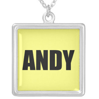Andy Square Pendant Necklace