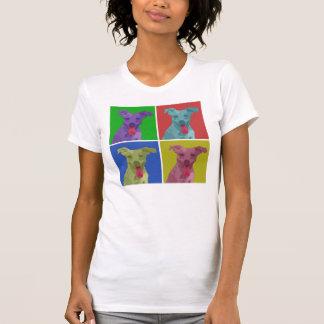 Andy Warhol pop art jack russell women s t-shirt