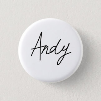Andy's signature badge