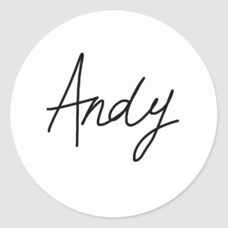 Andy's Signature Stickers