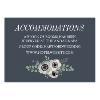 Anemone and Eucalyptus Hotel Accommodation Cards Pack Of Chubby Business Cards