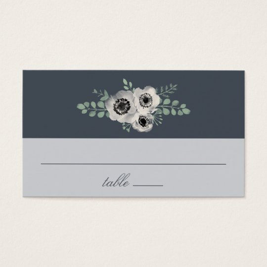 Anemone and Eucalyptus Wedding Escort Cards