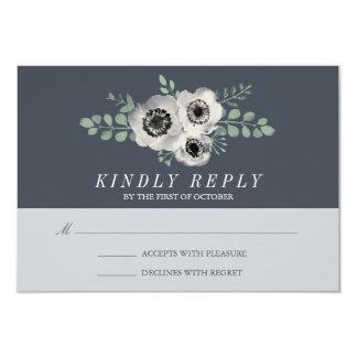 Anemone and Eucalyptus Wedding RSVP Response Card