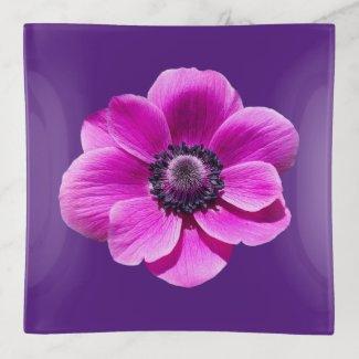 Anemone de Caen Flower Trinket Tray