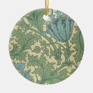 'Anemone' design (textile) Christmas Ornament