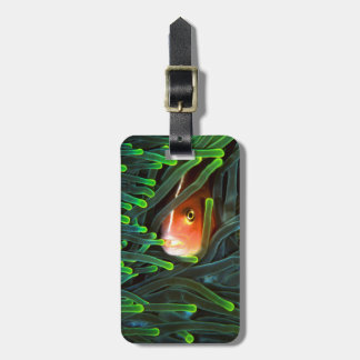 Anemone Fish Hiding In Anemone, Mozambique Luggage Tag