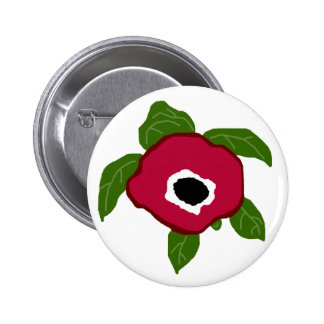 Anemone Flower sea turtle button