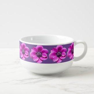 Anemone Flowers Soup Mug