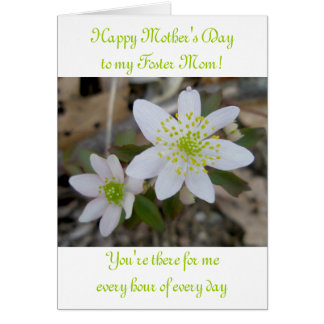 Anemone Happy Mother's Day Foster Mother Card