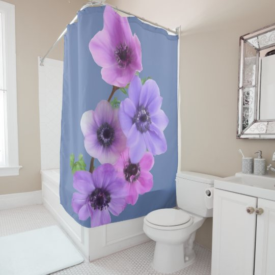 ANEMONE IN PASTEL SHOWER CURTAIN