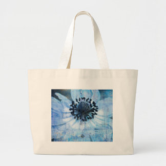 anemone in the garden large tote bag