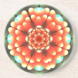 Anemone Mandala Beverage Coasters