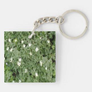 Anemone nemorosa Double-Sided square acrylic key ring