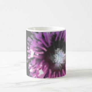 anemone pink basic white mug