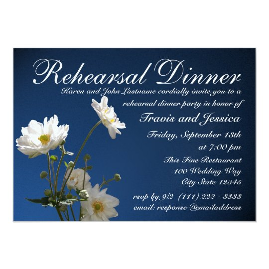 Anemone Rehearsal Dinner Card