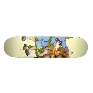 Anemones and Bluets Skateboard Deck