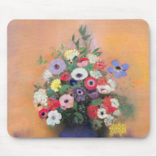 Anemones and lilac in a Blue Vase, after 1912 Mouse Pad