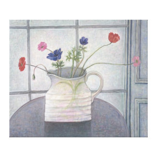 Anemones and Poppies 2008 jug flowers still Gallery Wrapped Canvas