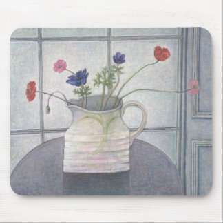 Anemones and Poppies 2008 jug flowers still Mouse Mat