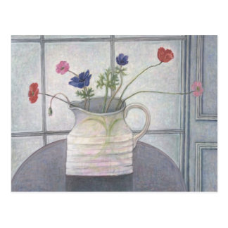 Anemones and Poppies 2008 jug flowers still Postcard
