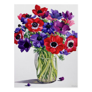 Anemones in a Glass Jug Postcard