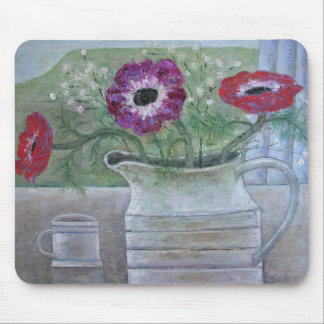 Anemones in White Jug 2013 Mouse Pad