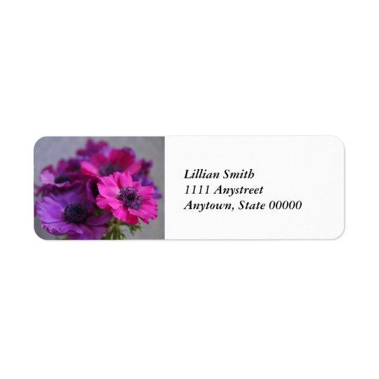 anemones return address labels