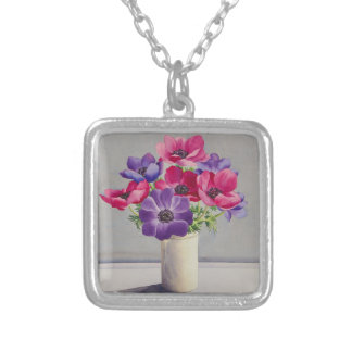Anemones Silver Plated Necklace