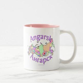 Angarsk City Russia Map Two-Tone Mug
