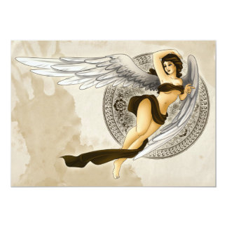 Angel 13 Cm X 18 Cm Invitation Card